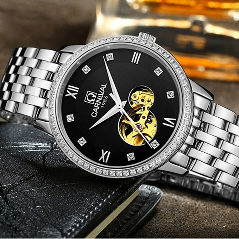 Watches Men Luxury relogio masculino Top Brand Carnival Tourbillon Mechanical Watch Fashion sport casual Automatic Wristwatch