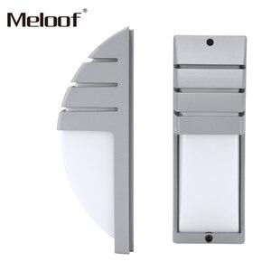 Image 4 - 12W רדאר אינדוקציה LED קיר אור עמיד למים מרפסת אור מודרני הוביל קיר מנורת Motion חיישן חצר גן חיצוני אור
