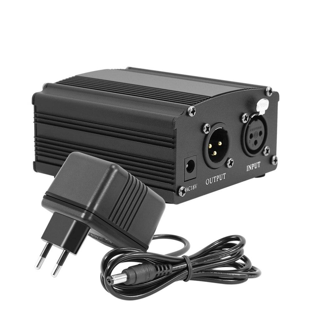48 v phantom power para bm 800 condensador microfone estúdio de gravação karaoke fornecimento equipamentos plugue da ue adaptador áudio dc energia