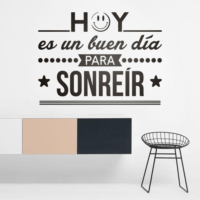 563 30 De Descuentovinilos Decorativos Hoy Es Un Buen Día Para Sonreir Español Frase Citas Pared Vinilo Pegatina Inspiración Letras Murales