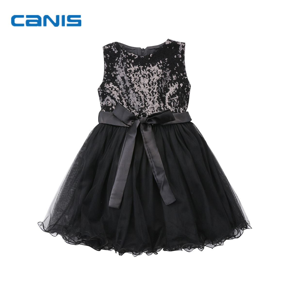 2018 Brand New Toddler Infant Child Flower Girl Kids Tutu Dress Sequin Princess Party Wedding Bridesmaid Tulle Gown Formal Dress kids girls bridesmaid wedding toddler baby girl princess dress sleeveless sequin flower prom party ball gown formal party xd24 c