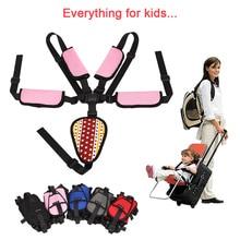 Children Seat Belt Universal Adjustable Fixing 5 Point Harness Baby Belt Stroller Accessories For Kids Stroller High Chair Pram