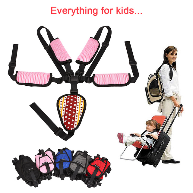 Children Seat Belt Universal Adjustable Fixing 5 Point Harness Baby
