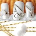 5 m Línea de Perlas Cadena de Acrílico Extremidades Falsas Del Arte Del Clavo 3D DIY Decoración Manicura