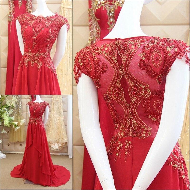 8d230038680047f Новый Дизайн 2017 королева Люкс Арабский платья Вечерние платья  индивидуальный заказ элегантный пол Длина шифон gx41