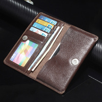 Universal Multifunction Genuine Leather Wallet Pouch Fundas Coque Cover Case For OnePlus 3T 3 1 One