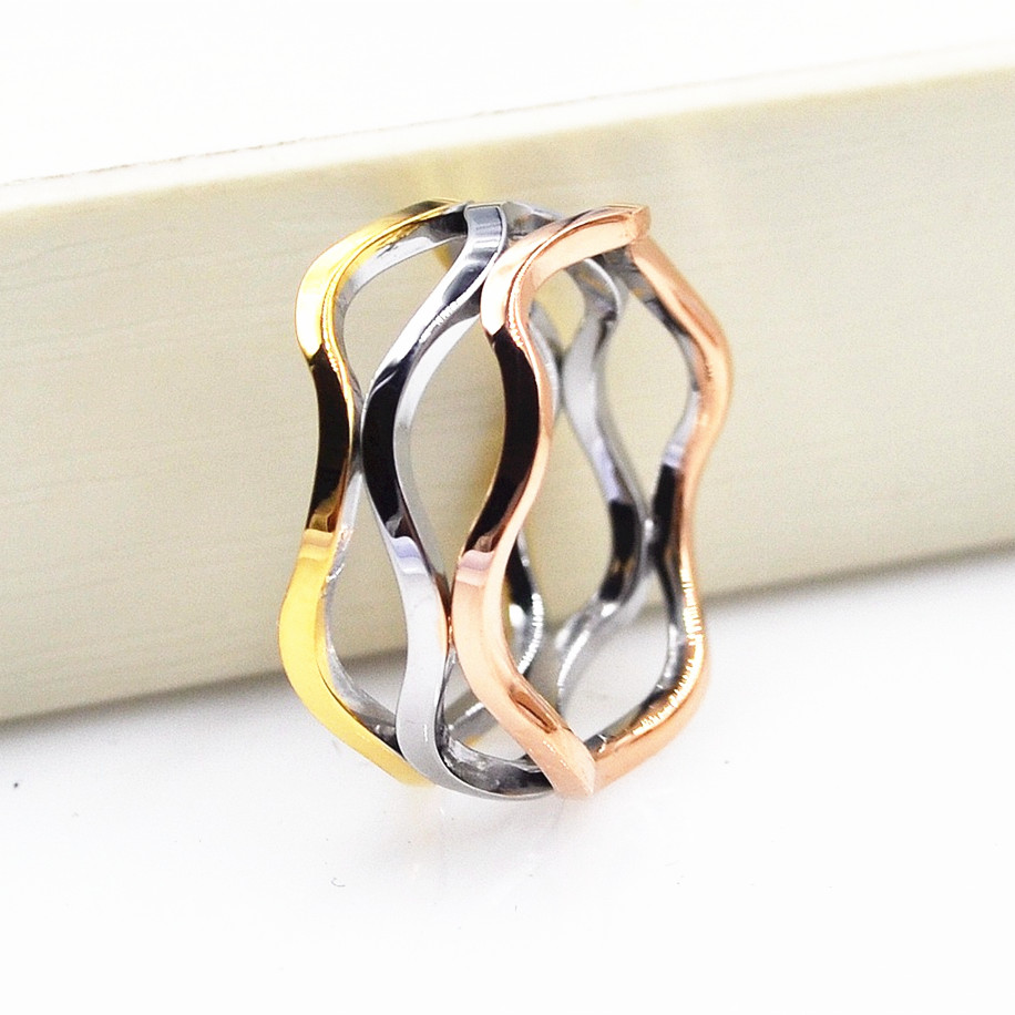 Rose gold silver colors cross line wide face Finger boho ring, Charms big sizes anelli donna championship rings For Women men