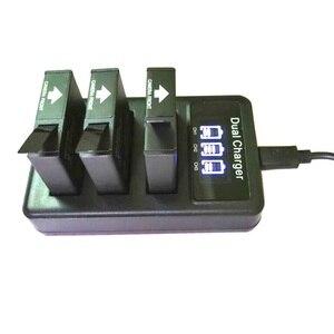 Image 1 - Mới SJCAM 3 USB 3 Khe Cắm Sạc Pin LCD Dugl Sạc Dành Cho Sj6 Truyền Thuyết/Sj7 Sao/Sj8 pro Plus Không Hành Động Phụ Kiện