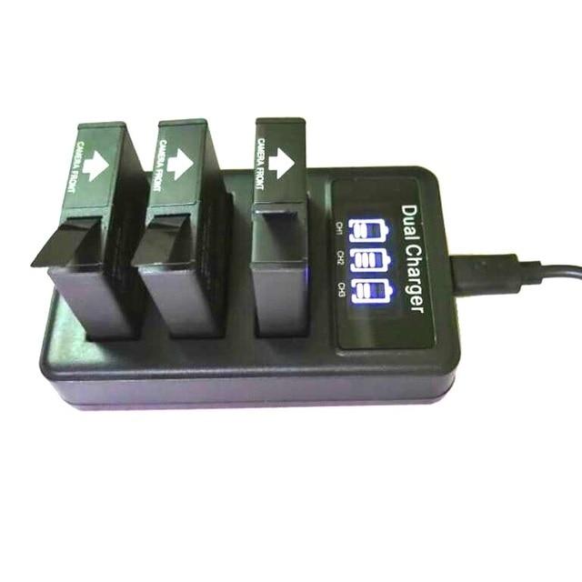 Mới SJCAM 3 USB 3 Khe Cắm Sạc Pin LCD Dugl Sạc Dành Cho Sj6 Truyền Thuyết/Sj7 Sao/Sj8 pro Plus Không Hành Động Phụ Kiện