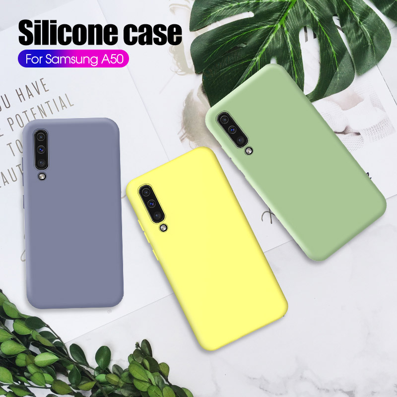 Original Liquid Silicone <font><b>Case</b></font> For <font><b>Samsung</b></font> <font><b>Galaxy</b></font> M40 M 40 A50 A30 A70 A60 <font><b>A40</b></font> A20 Soft TPU Candy <font><b>Phone</b></font> Cover For S10 Plus S10e image