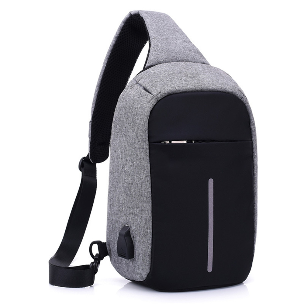 Waterproof Holiday Crossbody Bag Hot Sale USB Charging Cool Punk Rock Messenger Bags Fashion New Arrival Multifunction Packs