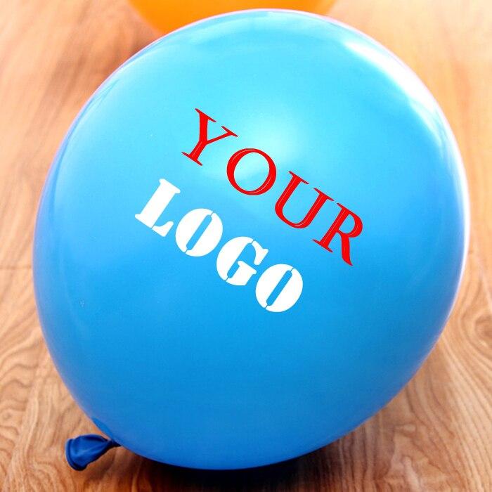 1000pcs 10 Thick Good Quality Custom Ballon Personalised Advertising Helium Balloons Print Logo Latex Baloons Printing