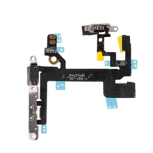 Power Switch On Off Mute Volume Button Connector Ribbon Flex Cable For iPhone 5S
