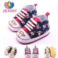 JENNY crianças meninas e meninos do bebê primeiro walker 0-1 anos bebê recém-nascido criança tigre dos desenhos animados impresso borracha macia solas de sapatos