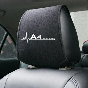 Image 5 - 1PCS Hot car poggiatesta copertura fit for Audi A4 B5 B6 B7 B8 B9 A3 8P 8V 8L A5 A6 C6 C5 C7 4F A1 A7 A8 Q2 Q3 Q5 Q7 RS3 RS4 RS5 RS6 TT