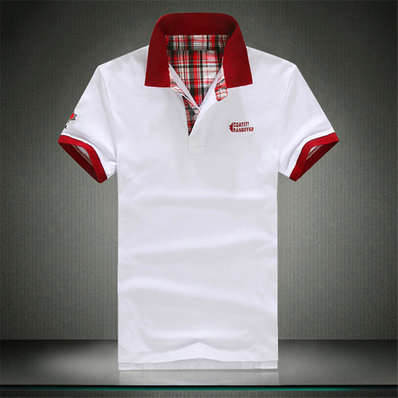 2018 summer Men's short-sleeveds POLO shirts S M L XL 2XL 3XL White gray green black red fashion casual men POLO shirts LEFT ROM