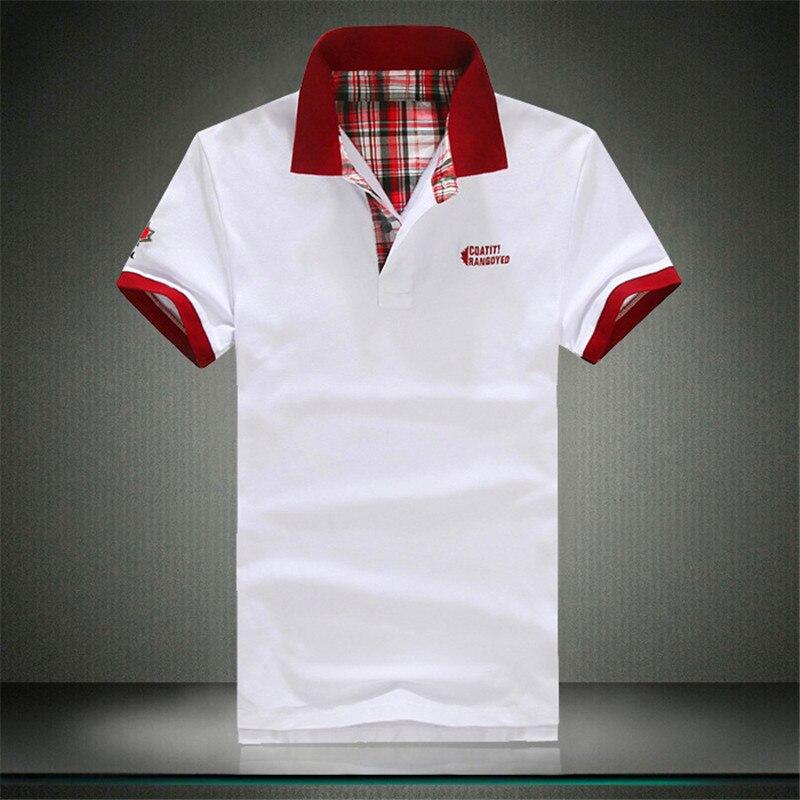 2018 uomini di estate del bicchierino-sleeveds polo Sml XL 2XL 3XL bianco grigio verde nero rosso fashion casual uomo polo SINISTRA ROM