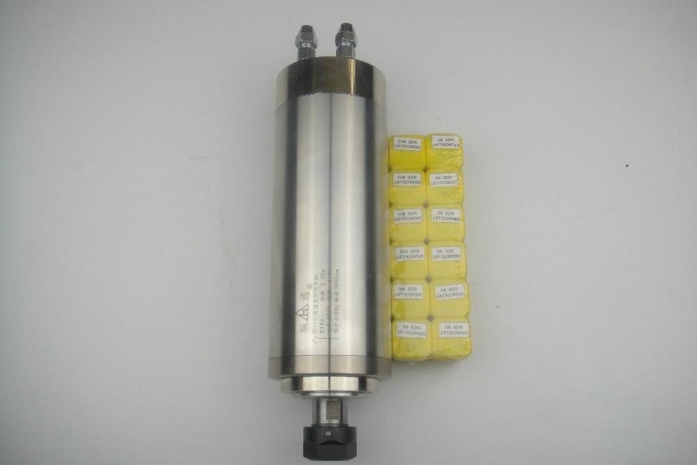 CNC frees spindl ER20 2.2KW vesijahutus spindl + 12 tükki ER20 kollet