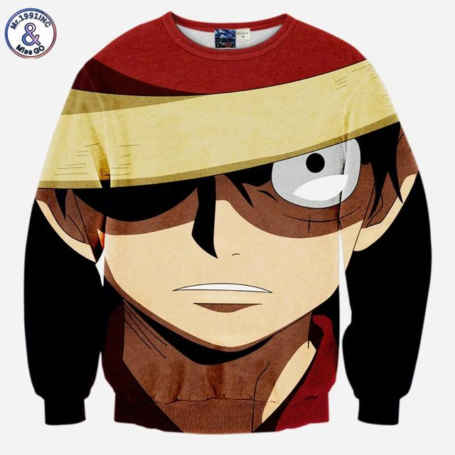 Japanese One Piece Anime Men's 3D Sweatshirt Hoodie
