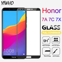 Protective Glass On Honor 7A 7C Pro 7X Safety Tempered Film Glass For Huawei Honor On 7C 7A Pro 7X Screen Protector Full Cover(China)