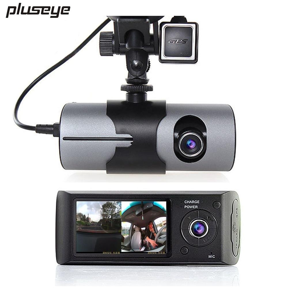 P Dual Cameras Car Dvr Recorder Gps Tracker H  Video Registrator Hd Dash