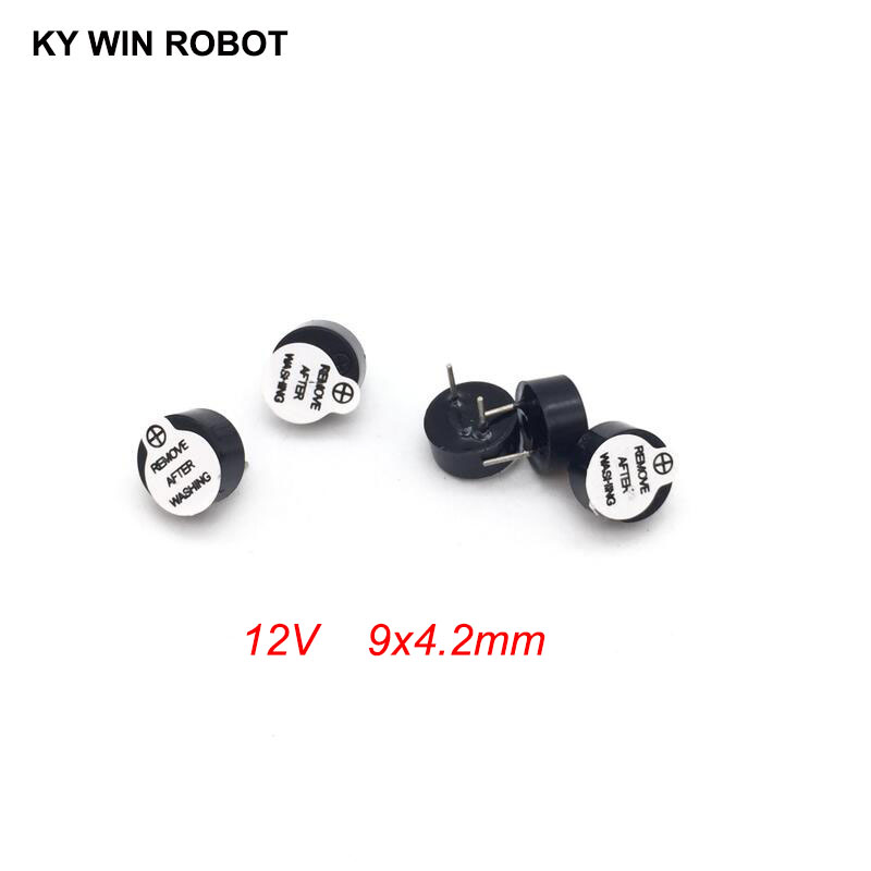 [ Electronic Diy Kit ] New Ultra-thin 12V Active Buzzer Electromagnetic 9*4.2MM 0942 (SOT Plastic Tube Length Acoustic )5 Pieces