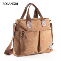 2017 Men Canvas Vintage Casual Briefcase Business Shoulder Bag Messenger Bags Computer Laptop Handbag Bag Men