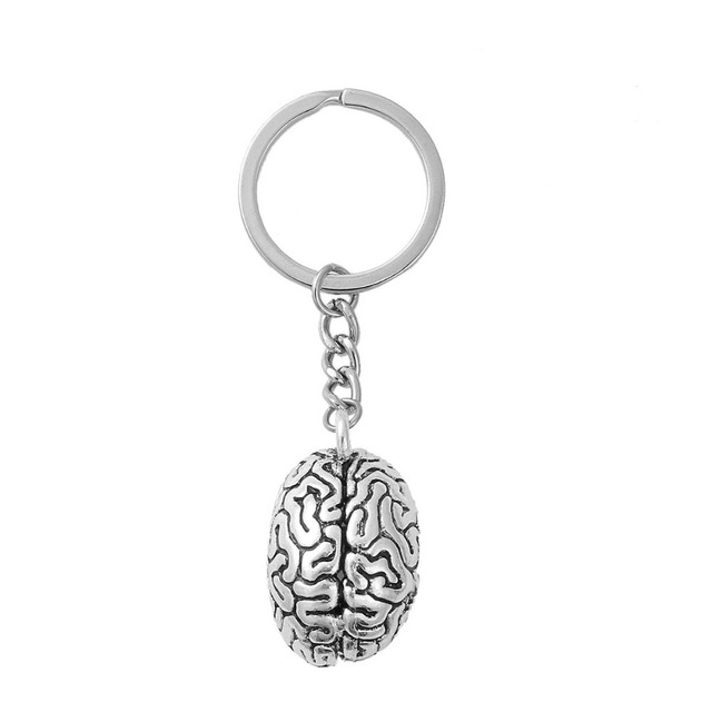 DoreenBeads 3D Keychain & Keyring Key Chains Anatomical Human Cerebrum Brain ant