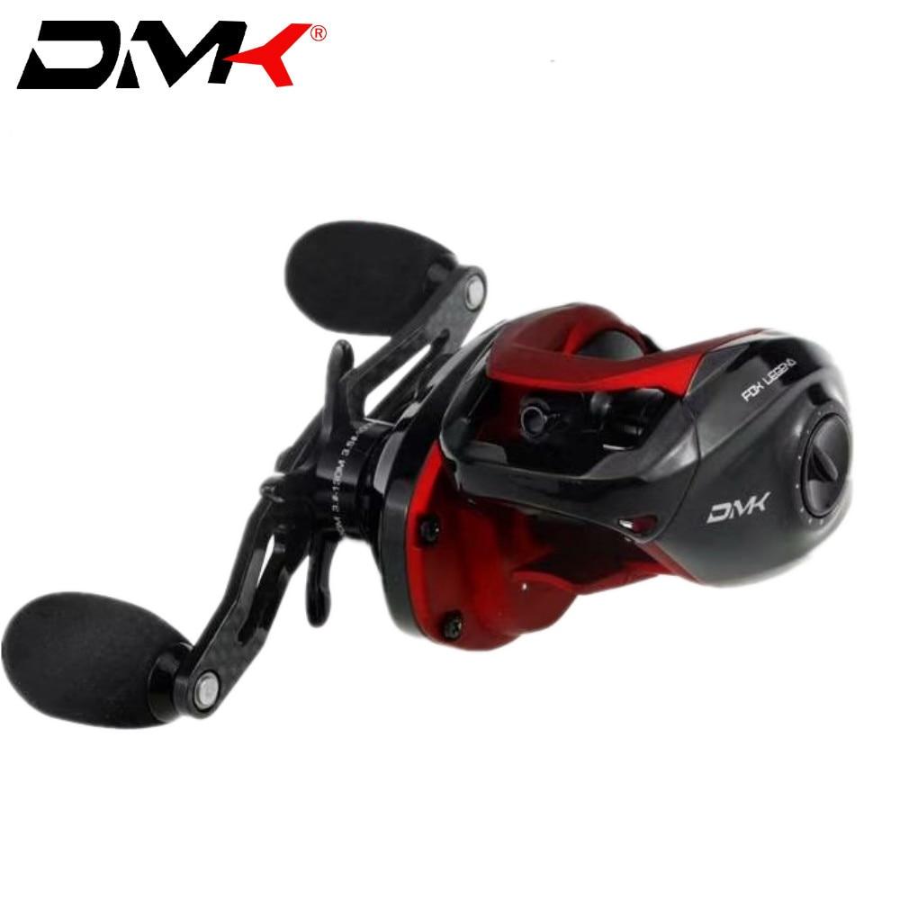 DMK FOX LEGEND 10BB 7.2: 1 Moulinet de pêche en fonte bobine de carpe en carbone et métal système de freinage magnétique Moulinet de Moulinet Mouche