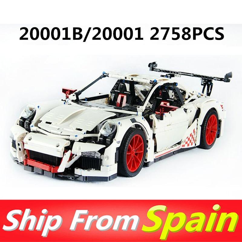20001 20001B 2758pcs Technic Series Race Car Compatible 42056 Building Blocks Christmas Gift toys for Children