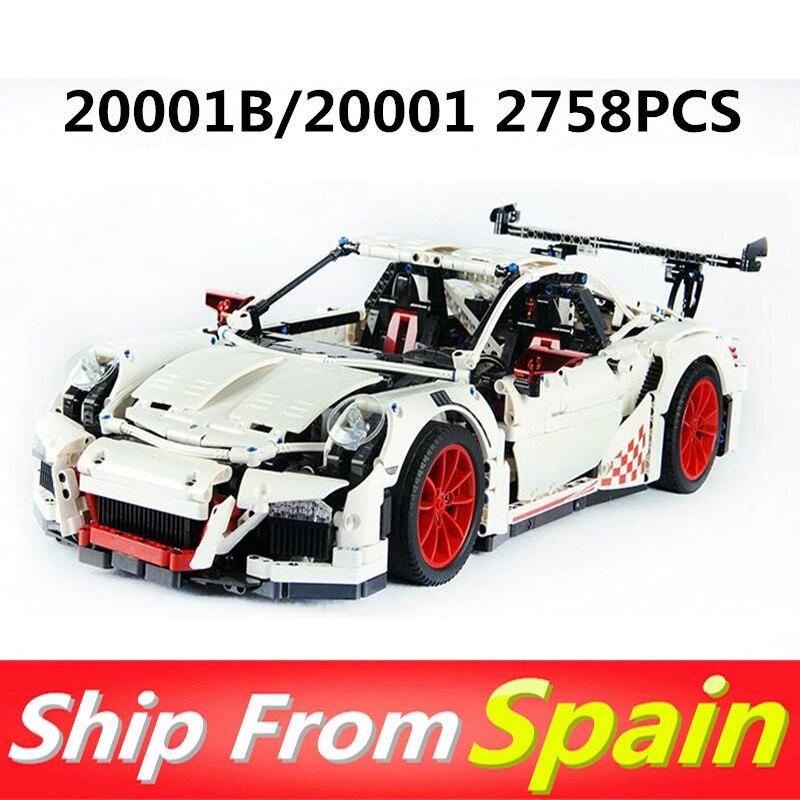 20001 20001B 2758pcs Technic Series รถแข่ง Compatible 42056 อาคารบล็อกคริสต์มาสของขวัญของเล่นเด็ก-ใน บล็อก จาก ของเล่นและงานอดิเรก บน   1