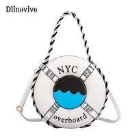 DIINOVIVO Brand New Fashion Lifebuoy Shape Women Handbag Exclusive Designer Female Shoulder Bags For Teenage Girl