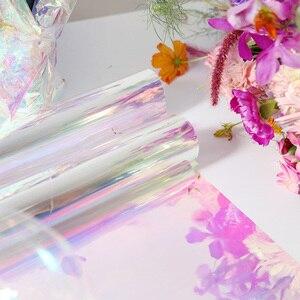 Image 4 - Nicrolandee 20 インチ × 10 ヤード花の包装虹色セロハン虹フィルムクリスマス誕生日結婚式の装飾用品