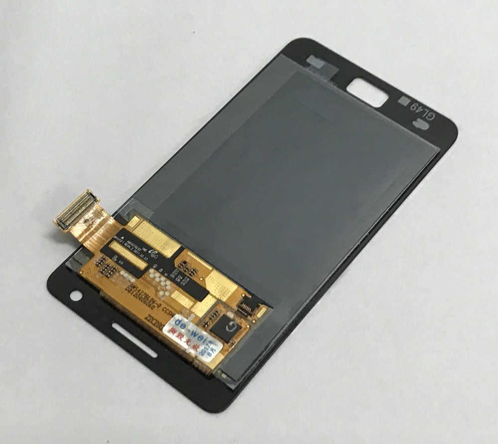 كامل محول الأرقام بشاشة تعمل بلمس الزجاج الاستشعار + شاشة الكريستال السائل لوحة شاشة وحدة الجمعية لسامسونج غالاكسي S2 i9100