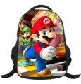 2017 nuevas llegadas de dibujos animados Mario impresión mochila niños bolsas escuela infantil niño niños schoolbag hombro school la bolsa de libros