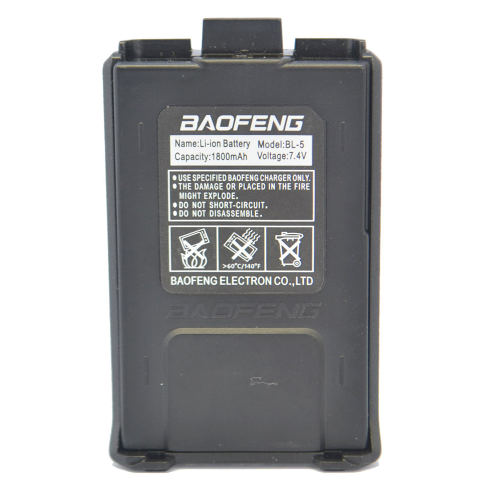 Baofeng UV5R Batterie 7,4 V/1800 mAh Akku für Baofeng UV-5R 5RA 5RB 5RC 5RD 5RE zwei 2-wege-radio