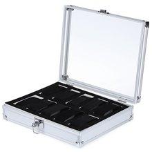 10 Grille de Montre En Cuir Cas Bijoux Affichage Collection Montre De Stockage Organisateur Box Holder caja reloj caixa de relogios