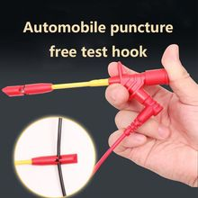 10A Professional Piercing Needle Test Clips Multimeter Testing Probe Hook With 4mm Socket Automotive Car Test Clip