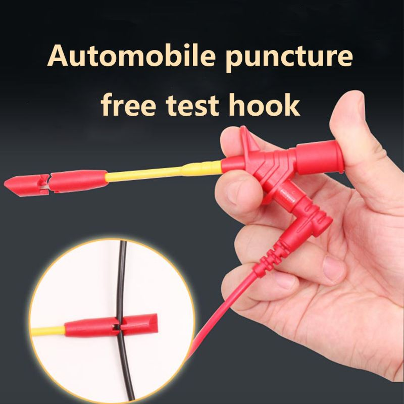 10A Professional Piercing Needle Test Clips Multimeter Testing Probe Hook With 4mm Socket