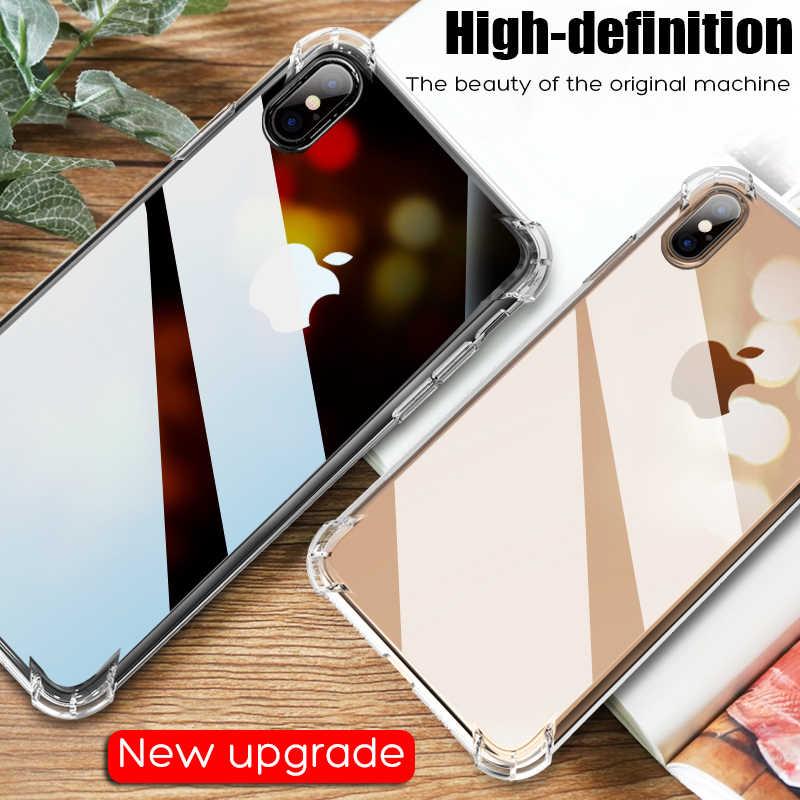 Uslion Chống Sốc Giáp Ốp Lưng Trong Suốt Dành Cho iPhone 11 Pro Max XS Max XR X 8 7 6 6S 6S Plus 5 5S SE Trong Suốt Điện Thoại Trường Hợp Túi Khí Bao