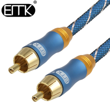 EMK Digital Audio Coaxial Cable RCA Coaxial Cable Subwoofer cable Male to Male Stereo 5.1 Video OD8.0 Nylon braided for DVD TV