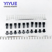 10sets/lot 2/3Pin 2.54mm Dupont Connector Pin Way Cable Plug Electrical Male/Female Pin Jumper Header Housing Wire Connector 4pcs set metal butt plug dildo vibrator sex toys for men gay woman anal plug prostate sex anal toys for adults sex machine shop
