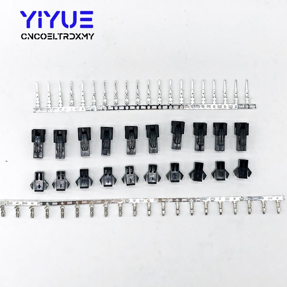 10sets/lot 2/3Pin 2.54mm Dupont Connector <font><b>Pin</b></font> Way Cable Plug Electrical Male/Female <font><b>Pin</b></font> <font><b>Jumper</b></font> <font><b>Header</b></font> Housing Wire Connector image
