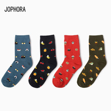 2019 Hot new Korea creative cartoon life food sushi watermelon ladies short tube cotton couple socks