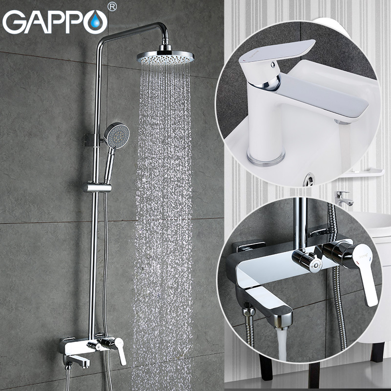 GAPPO смеситель для душа ванная раковина смеситель кран Водопад кран ванна душевая головка латунный дождевой Душ Набор