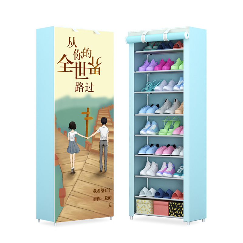 Multi-Tier Simple Assembled Non-woven Fabric Shoe Cabinet Dustproof Shoes Storage Organizer Space Saving JC032Multi-Tier Simple Assembled Non-woven Fabric Shoe Cabinet Dustproof Shoes Storage Organizer Space Saving JC032
