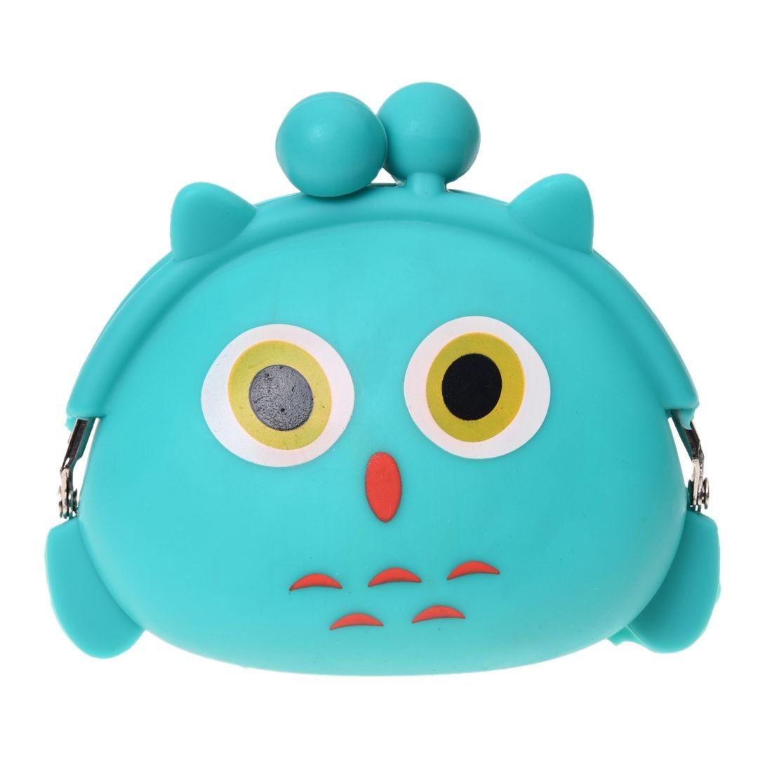 -Women Girls Wallet Kawaii Cute Cartoon Animal Silicone Jelly Coin Bag Purse Kids Gift Owl