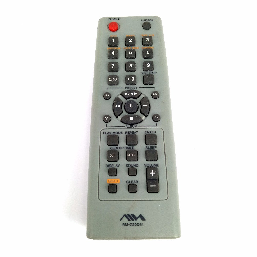 Used Original For Sony AIWA DVD Player Genuine Remote Control RM-Z20061 RM-Z20004 Tested Free Shipping микросистема dvd sony cmt sbt40d black