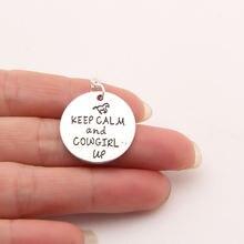 Ожерелье с принтом «Собачья лапа» «keep calm» и «cowgirl up»