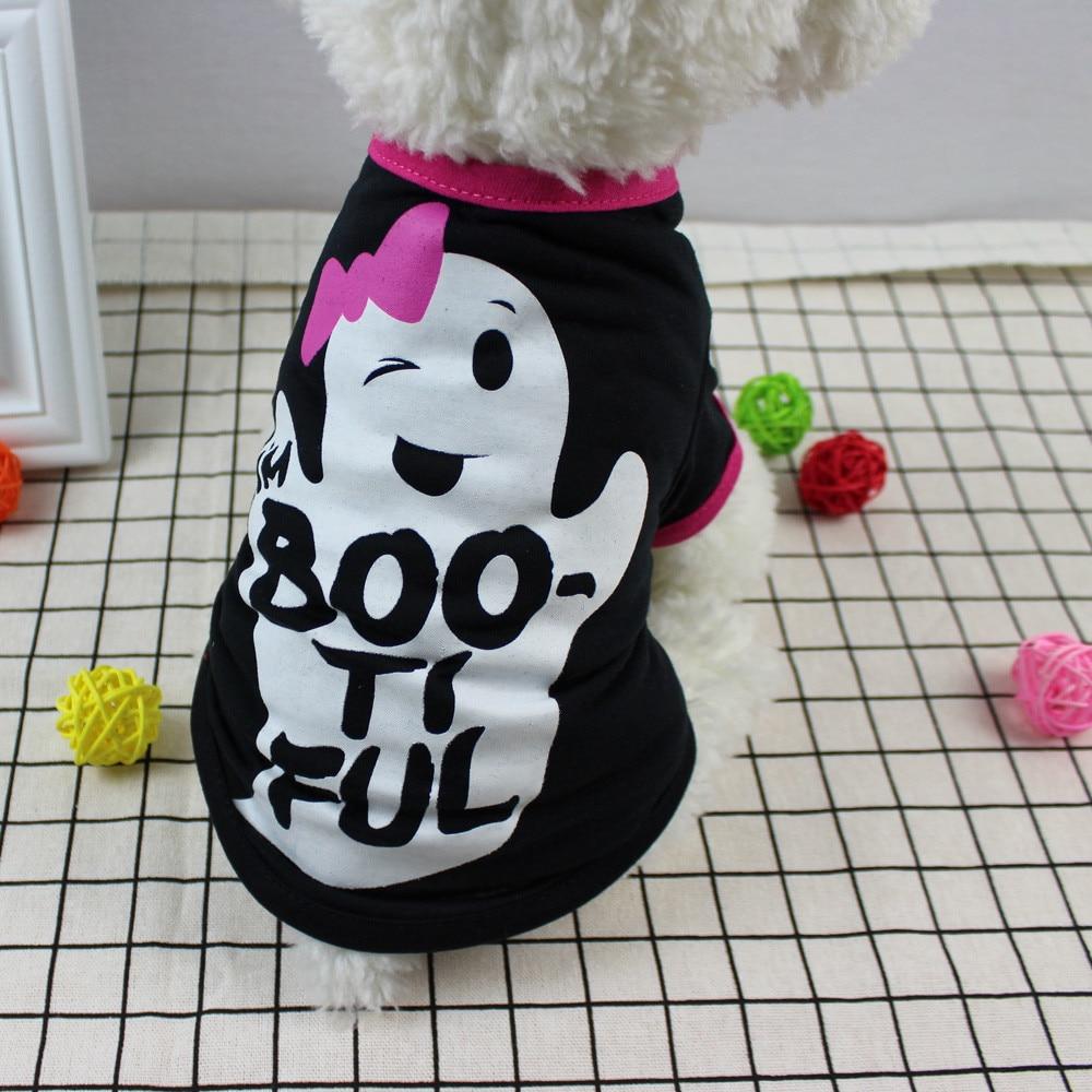 dog shirts Cool Halloween Cute Pet T Shirts Clothing Small Puppy Costume Chaleco Perro puppy shirt #815